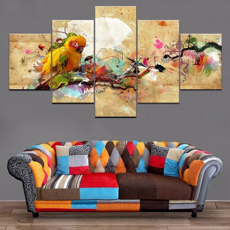 Tableau Tropical Perroquet