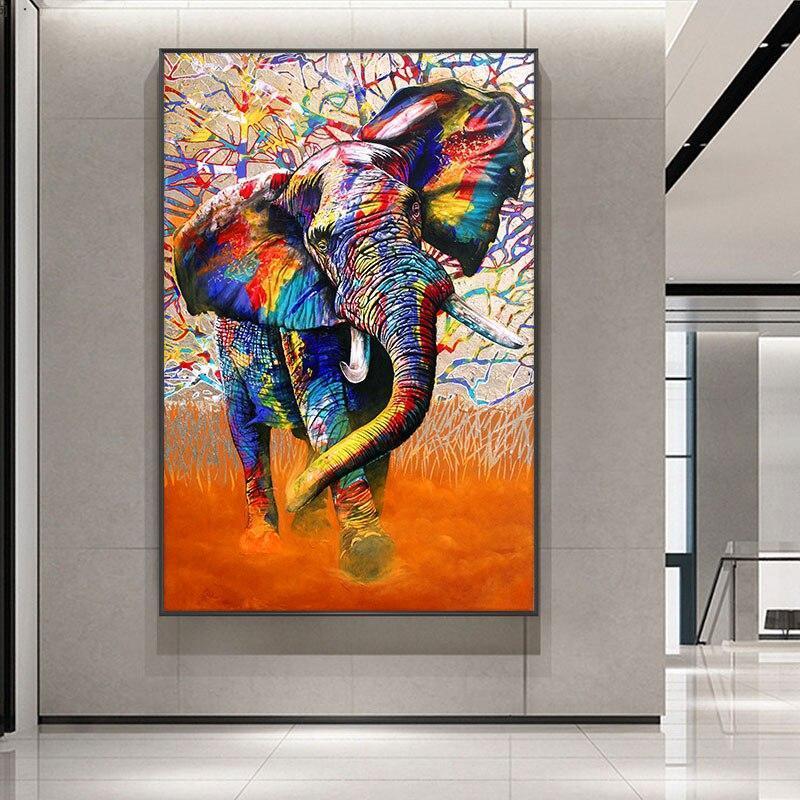 Tableau Éléphant Pop Art