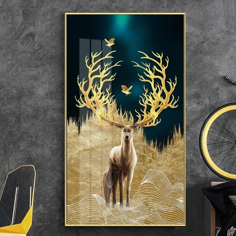 products tableau scandinave cerf