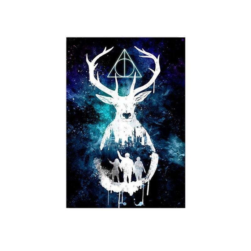 Tableau Tête de Cerf Géométrique