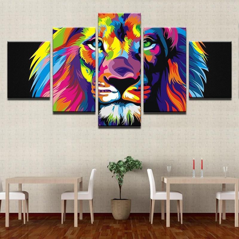 Tableau Lion Street Art