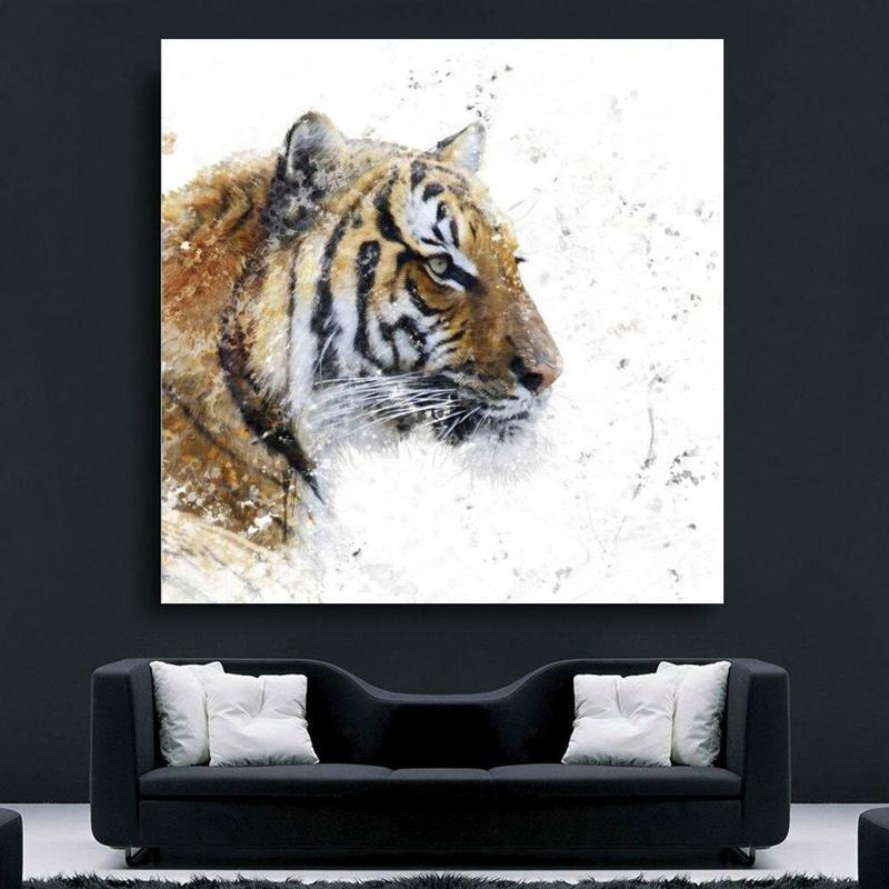 Tableau Tête de Tigre