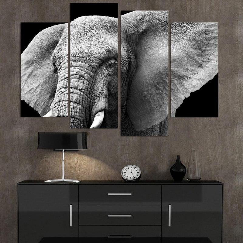 Tableau Tête d'Éléphant