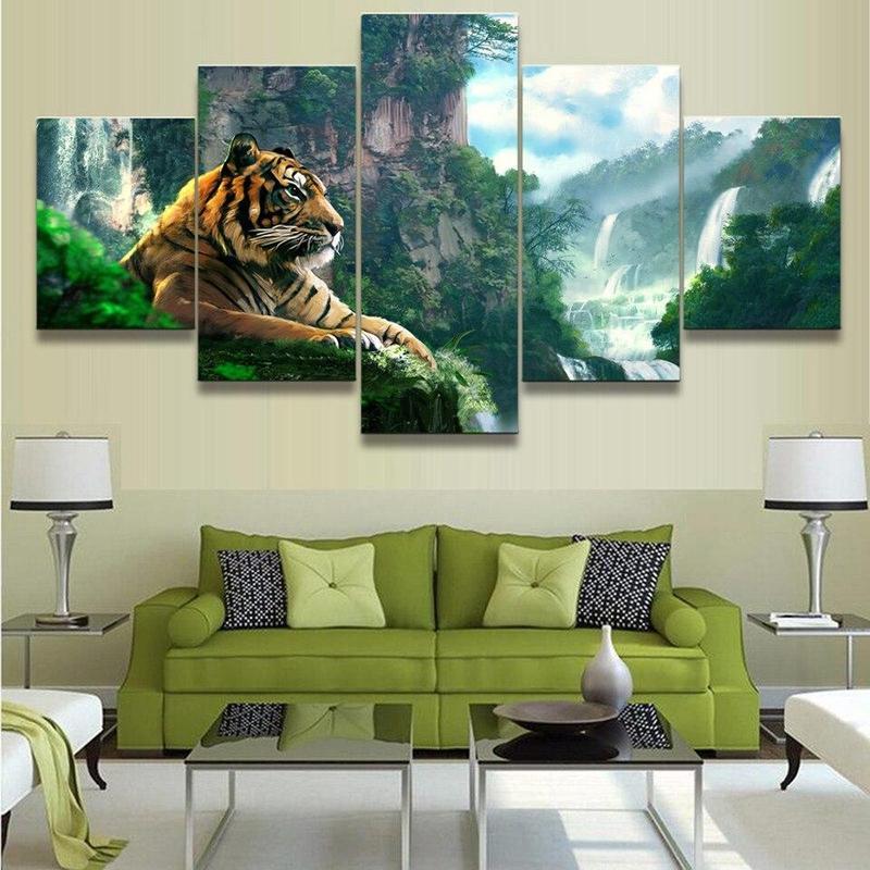 Tableau Tigre Paysage