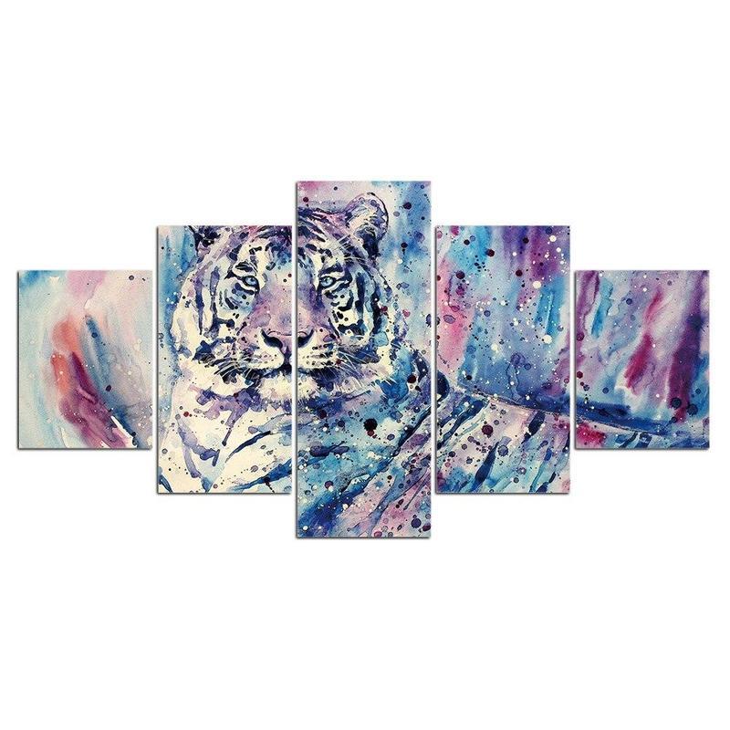 Tableau Tigre Coloré