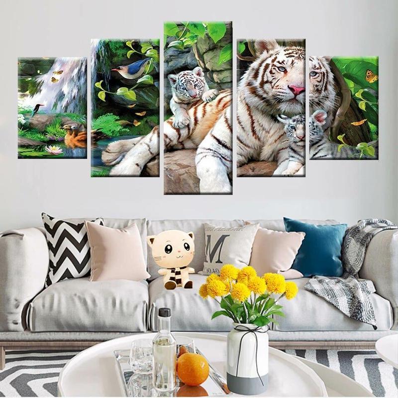 Tableau Tigre de la Jungle