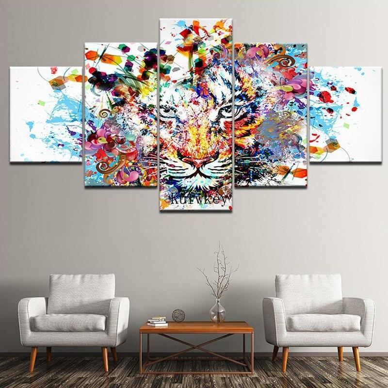 Tableau Tigre Multicolore