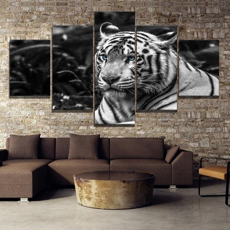 Tableau Tigre Noir et Blanc
