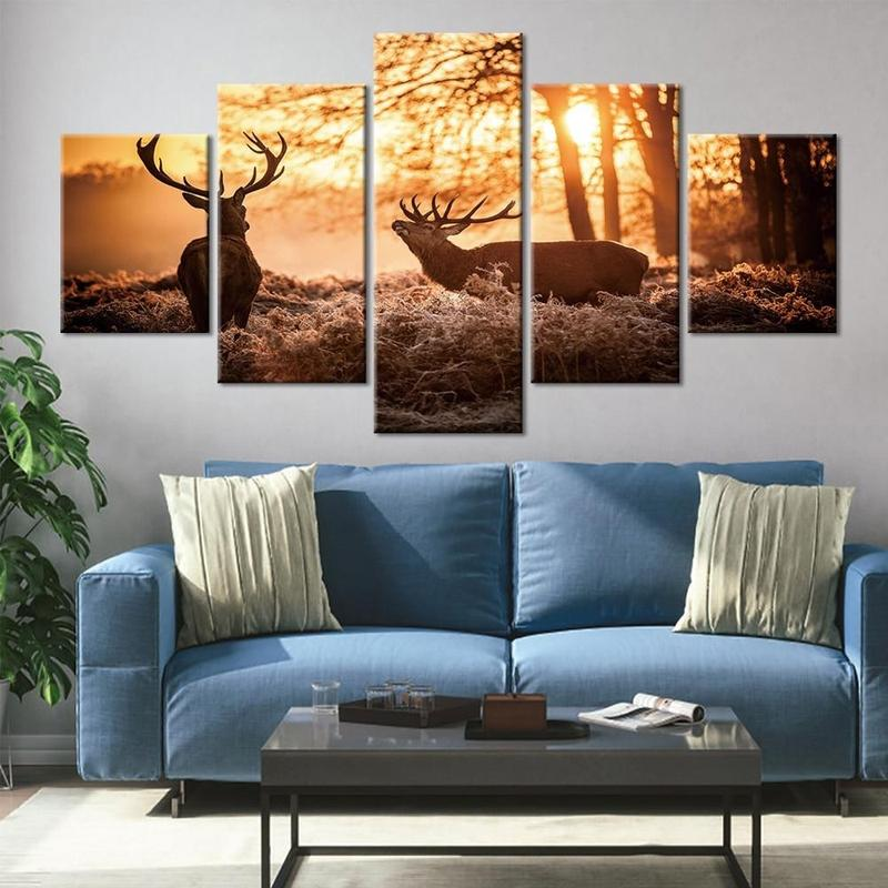 products tableau toile cerf 2