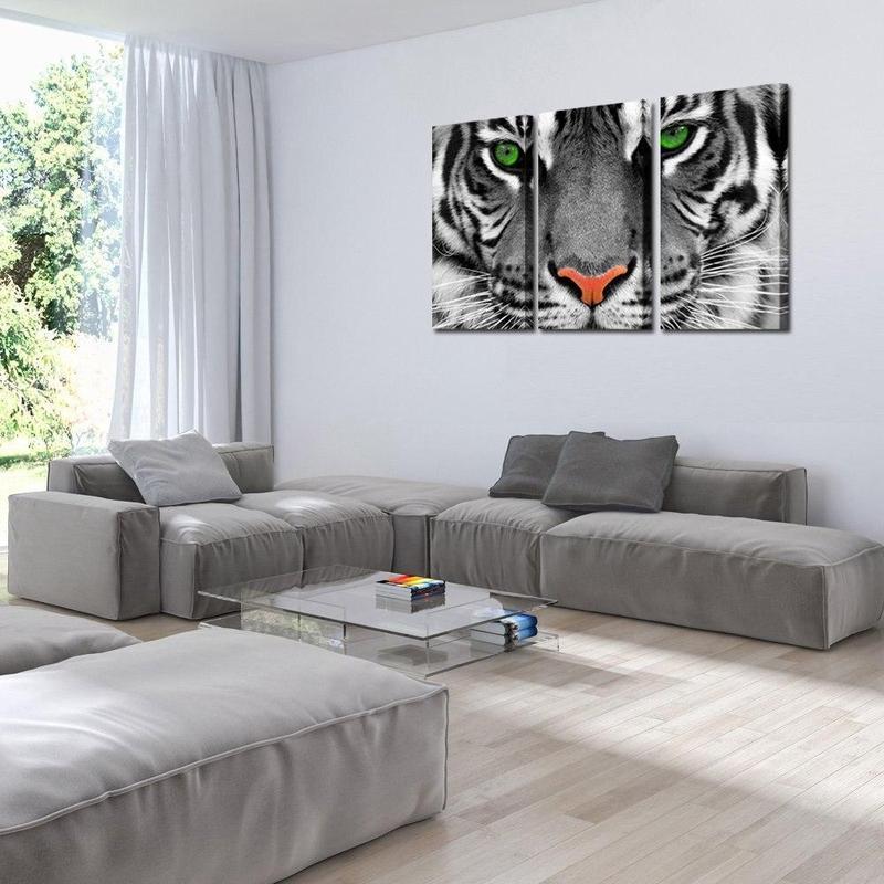 Tableau Tigre aux Yeux Verts