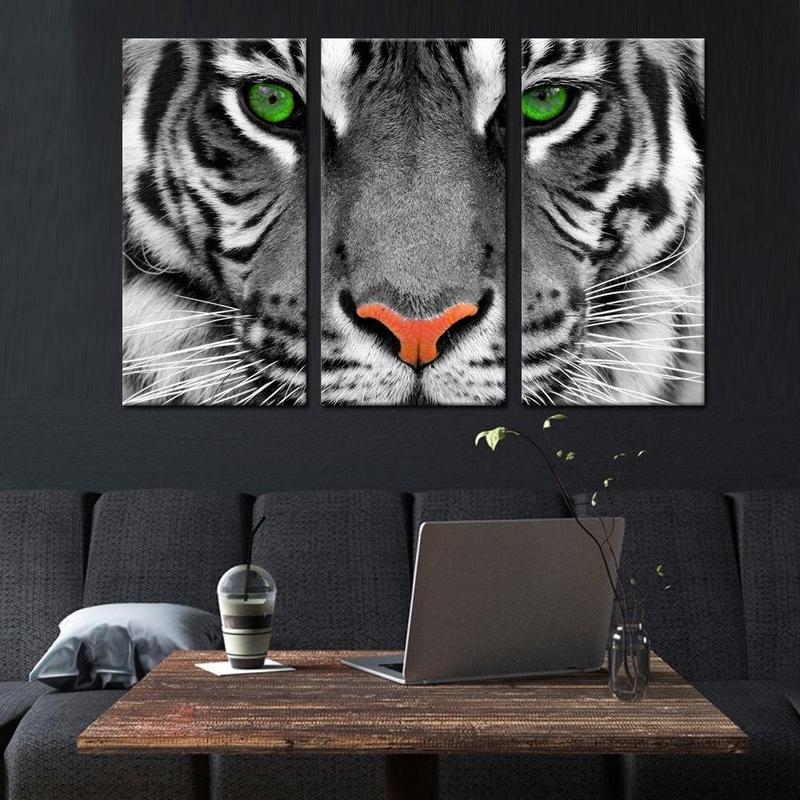 Tableau Triptyque Tigre