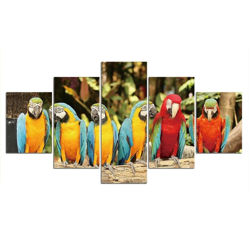 Tableau Perroquets Tropicaux