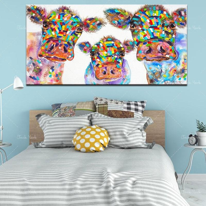 Tableau Vaches Multicolores