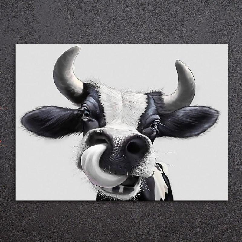 Tableau Vache Noir & Blanc