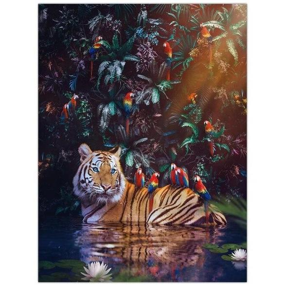 Toile Tigre Exotique