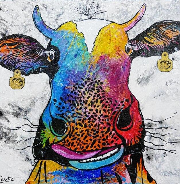 Toile Vache Multicolore