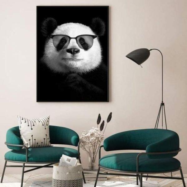 Tableau Panda Lunette