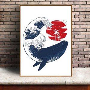 Poster Baleine Japon