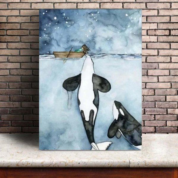 Poster Baleine Polaire