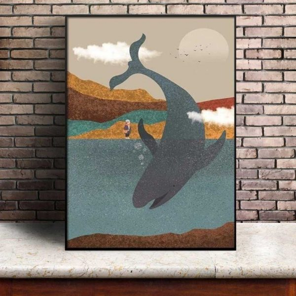 Poster Baleine Vintage