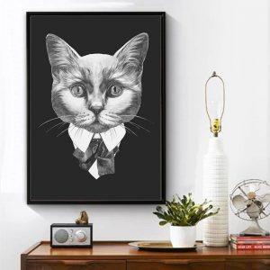 Poster Chat Noir Et Blanc