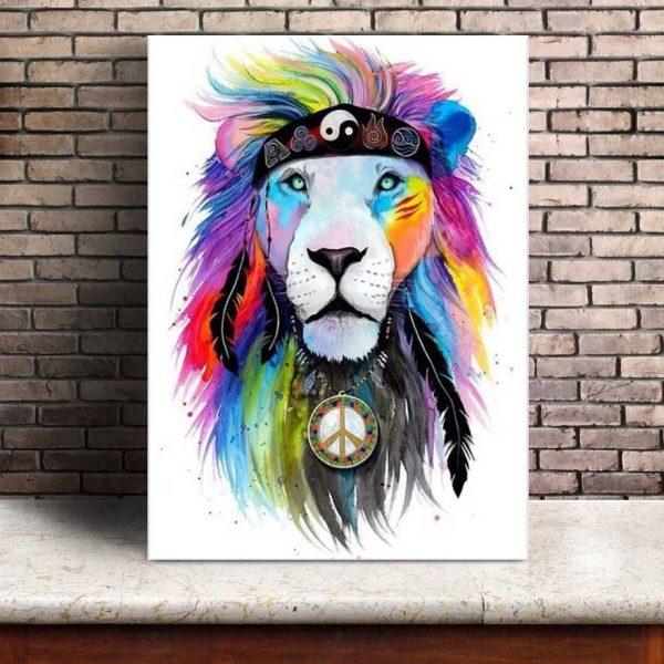 Poster Lion Hippie