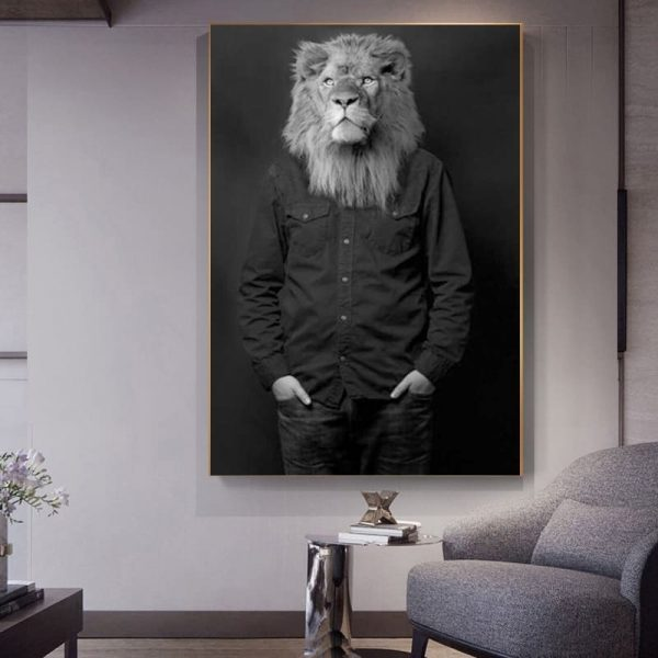Poster Lion Humanisé