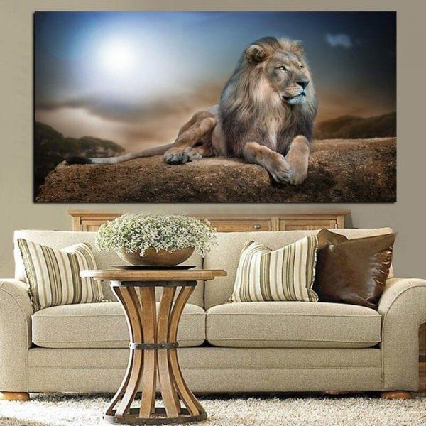 Toile Lion Majestueux