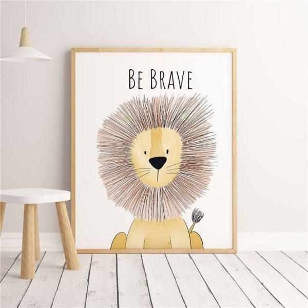 Poster Lion Enfant