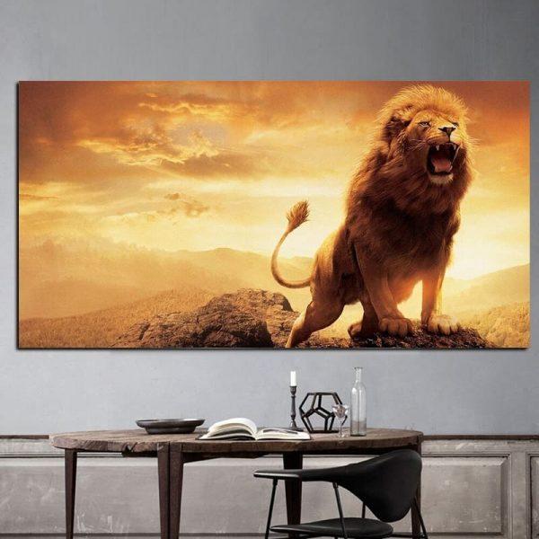 Toile Lion Peinture
