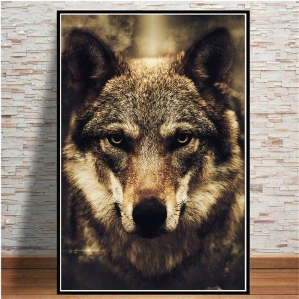 Toile Peinture Loup