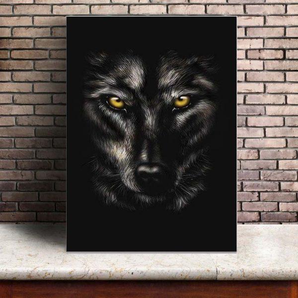 Poster Loup Noir