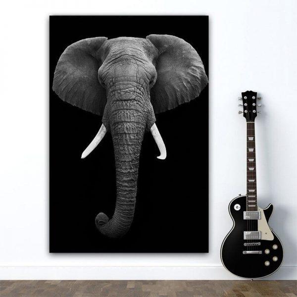 Peinture Sur Toile Éléphant