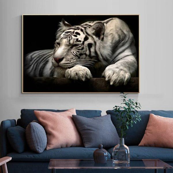 Poster Tigre Blanc Géant