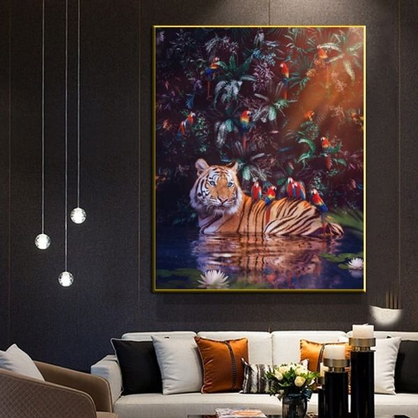 Toile Décor Tigre