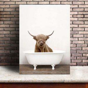Poster Vache Highland