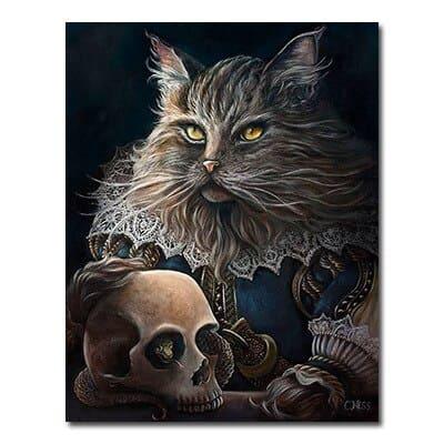Toile Chat Gothique