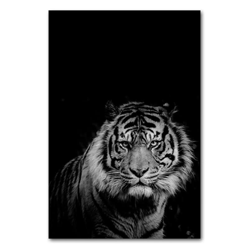 Toile Tigre Noir Et Blanc