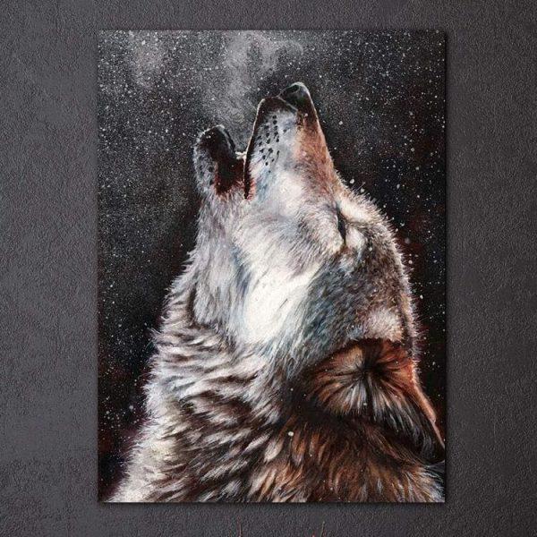 Tableau Loup qui Hurle